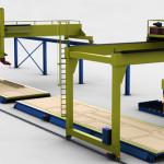 Impianto semi automatico di saldatura stiffner settore cantieristico