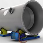 Posizionatore basculante per saldature circonferenziali