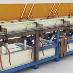 Particolare impianto per la produzione tubi di piccolo diametro plastificati