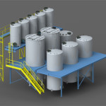 Strutture di sostegno e serbatoi per impianto chimico