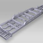 Telaio principale macchina operatrice settore ferroviario