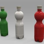Serie di bottiglie in PET per bevande gassate