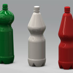 Serie di bottiglie prototipali in PET