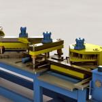 Macchina automatica tranciatura e punzonatura lamierini per tasformatori trifasi