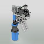 Studio gruppo di piega per macchina piega tubi di diametro medio a CN