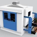 Impianto sperimentale per deposito vapori di silicio su film utilizzati nella produzione di teli termici