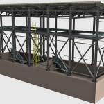 Particolare struttura capannone industriale